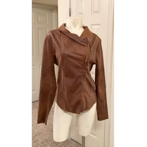 Cato brown draped jacket bnwot